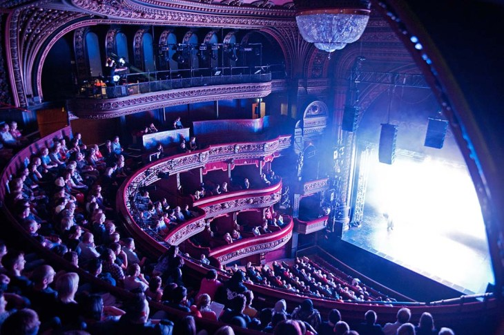 Leeds Grand Theatre audience view from Upper Circle
