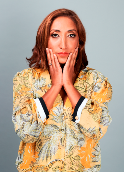Shazia Mirza - photograph credited to Amelia Troubridge