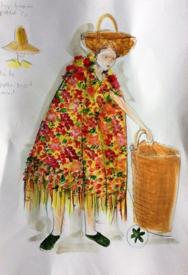 Flower woman - Snow Queen costume design