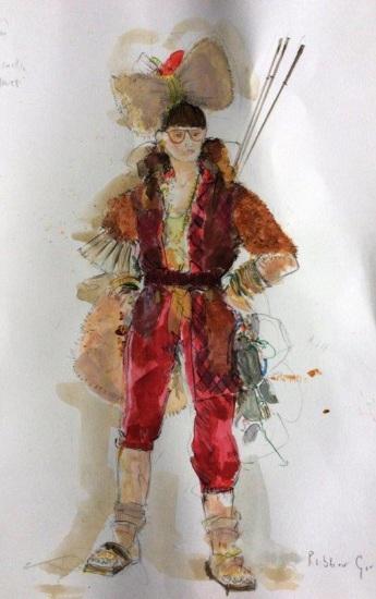 Robber Girl - Snow Queen costume